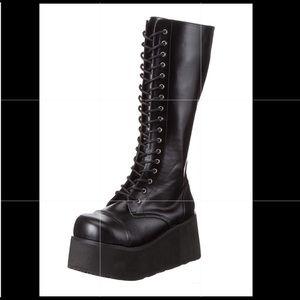 Trashville 52 Demonia Boots Size 8 Goth